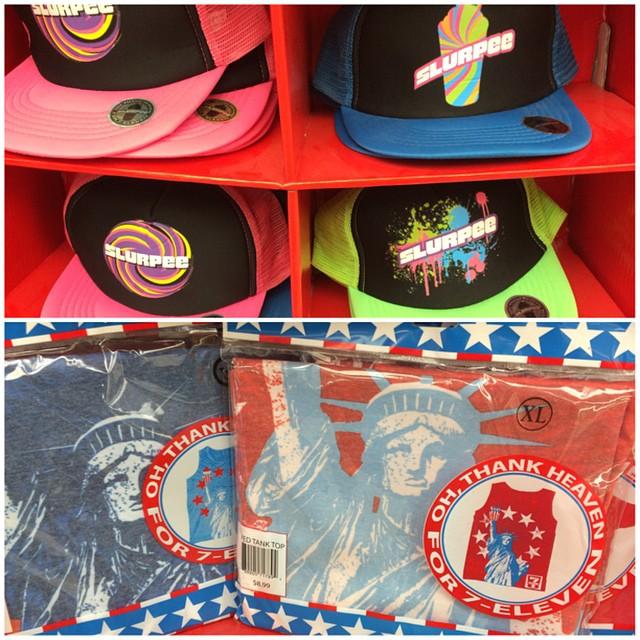 Slurpee hat or 7 Eleven tank top? #pickYourPoison
