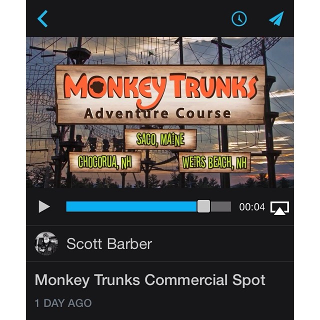 First 30 second television spot for Monkey Trunks Adventure Course is in the final stages of production. #monkeyTrunks #scottbarberfilm
