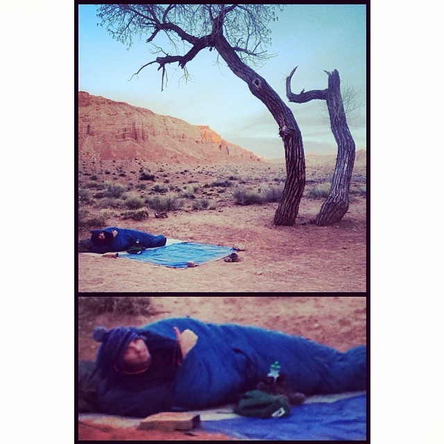 First night sleeping in the desert. Watched the Big Dipper cruise from one side of the horizon to the other. #livingIt #scottbarberfilm