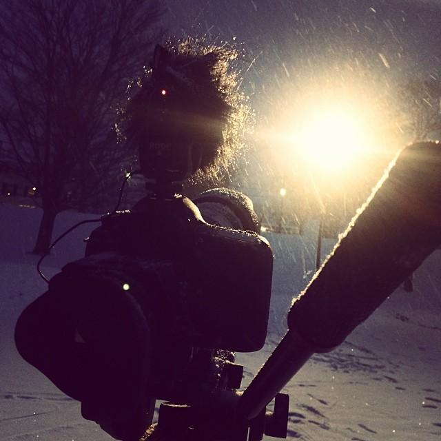 5D is killin it. 70-200 2.8 is killin it. Manfrotto head is killin it. Rode VMP is killin it. Everyone got a shot. #killinit #scottbarberfilm #filmmaking #snowboarding #beastlyvolumes