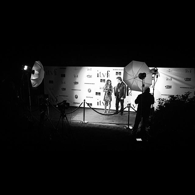 Felt like I was lead videographer for E! tonight. #ITVfest @ITVfest. Hollywood in Vermont. #scottbarberfilm