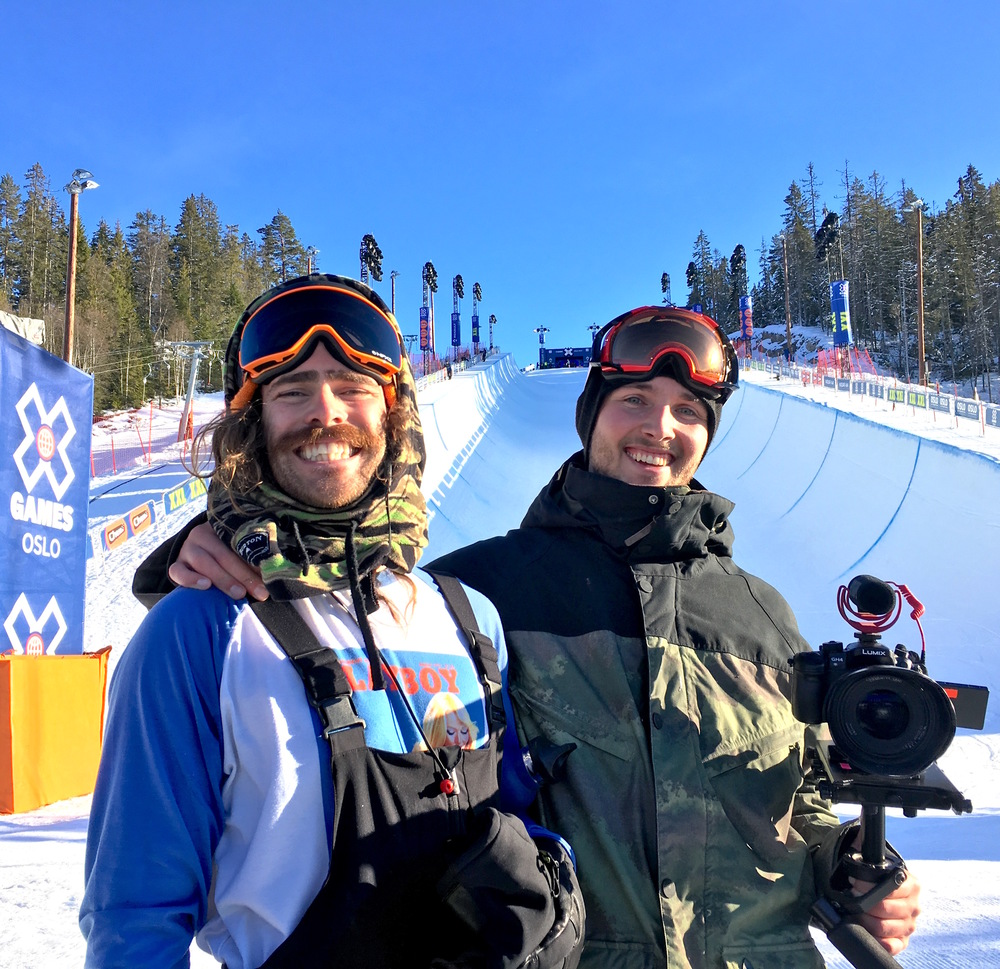 Bottom of the pipe with Danny at the Oslo X Games