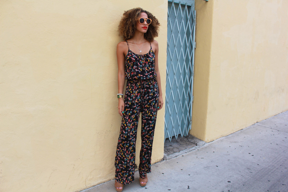 Nina wearing ourDalissa Open-Back Pantsuit, available in our Westwood Village boutique or on www.modlook29.com.