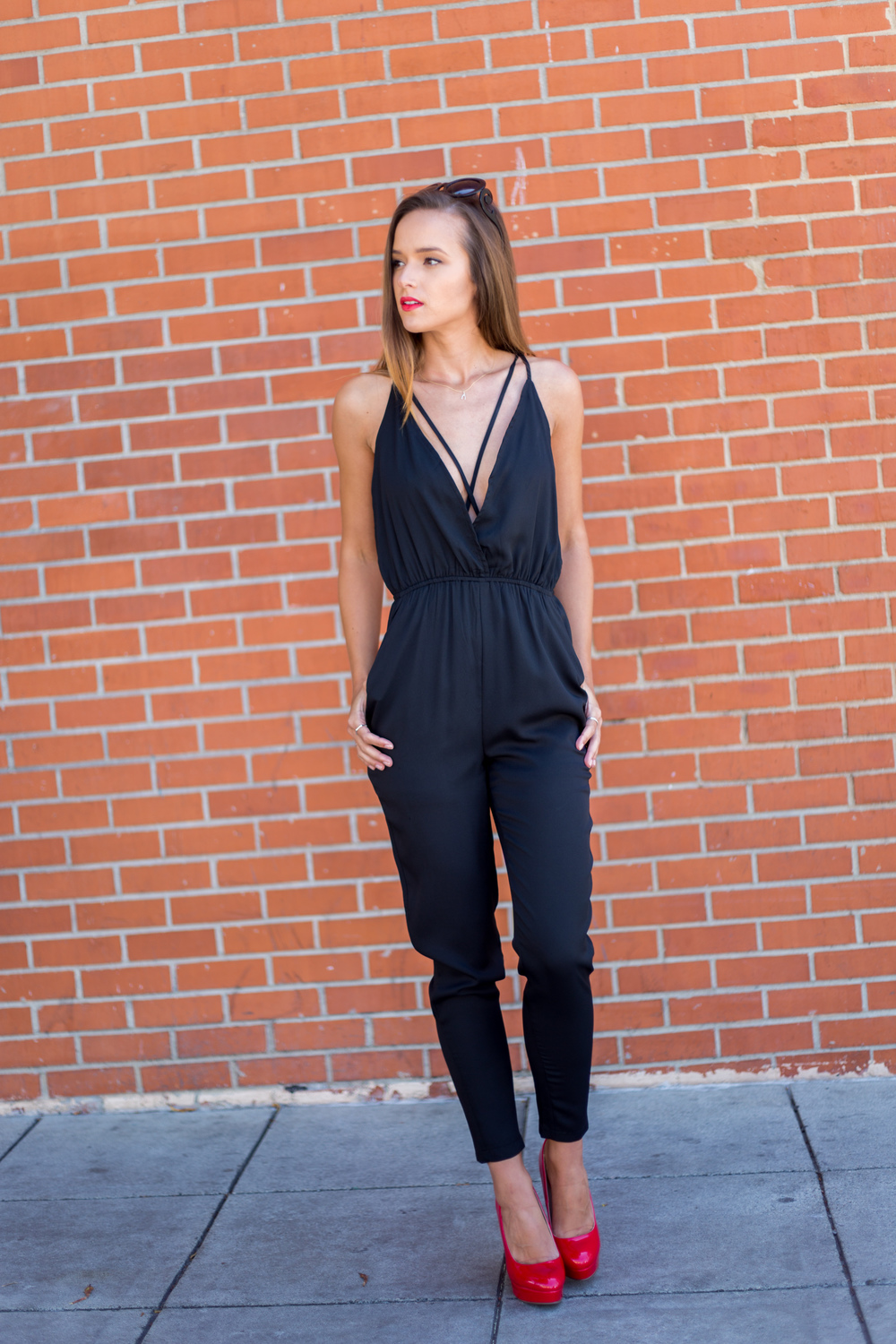 Helen wearing our sexyMoonstone Romper in Black. Available exclusively at Modlook29.com!