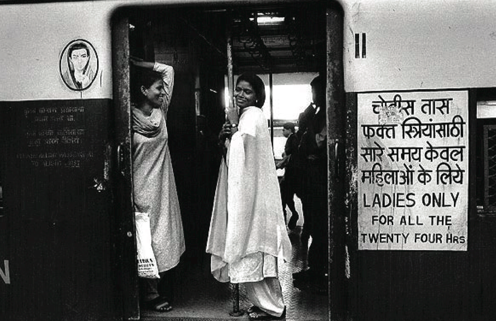 A phonetic wordplay on this signage hand painted on every ladies railway compartment. Reading  '24 HOURS for Ladies ONLY' to mean the apparent chauvinistic interpretation to '24 HOURS fuck the Ladies ONLY'