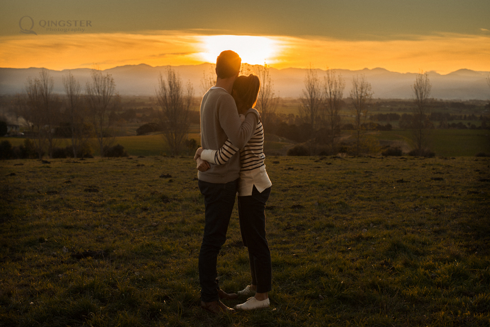 Pre-Wedding photography in Wairarapa Sunset, Hayley & Karl