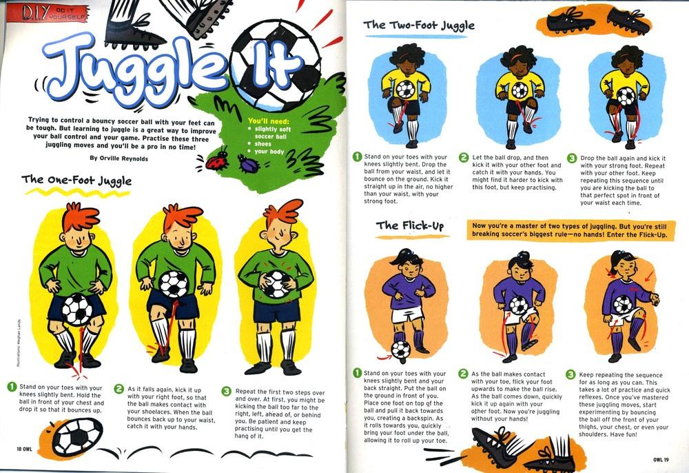Soccer Instructions - For Owl Magazine