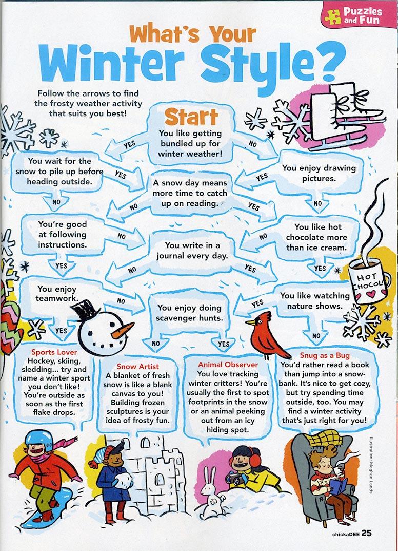Winter Quiz - Chickadee Magazine