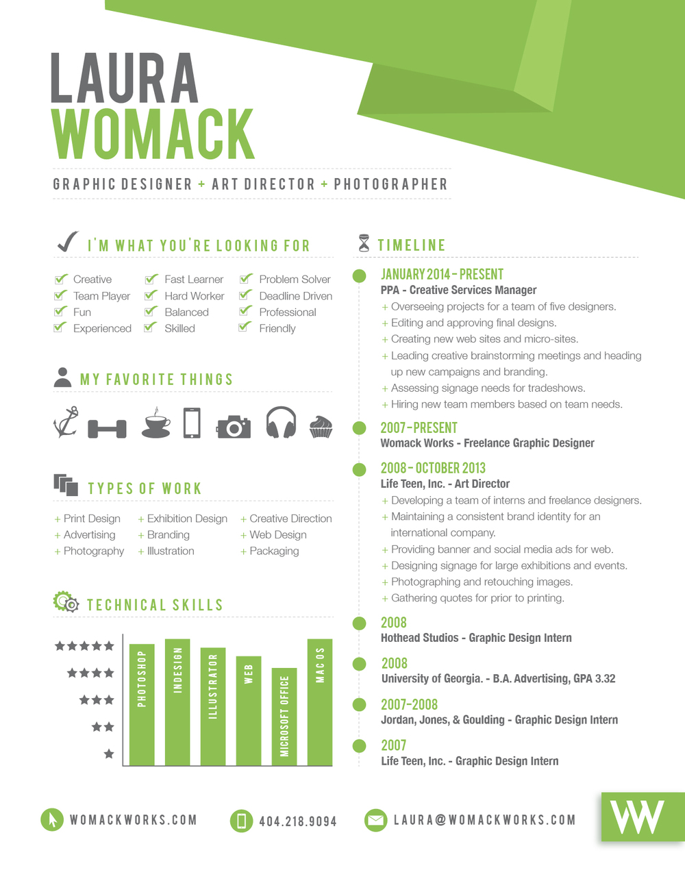 resume womack works