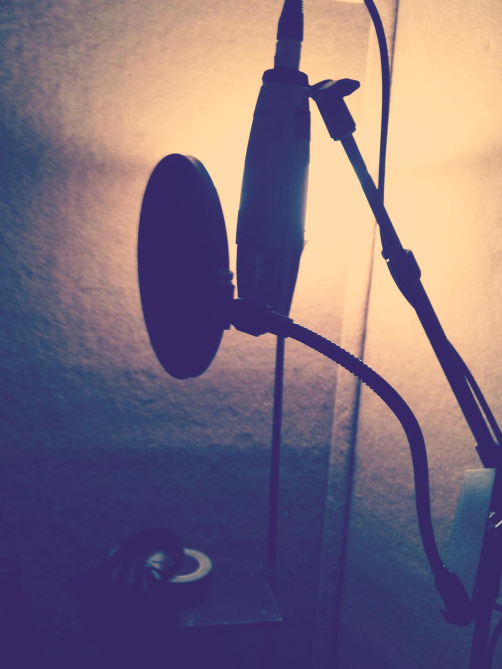 Ruth's mic set up.