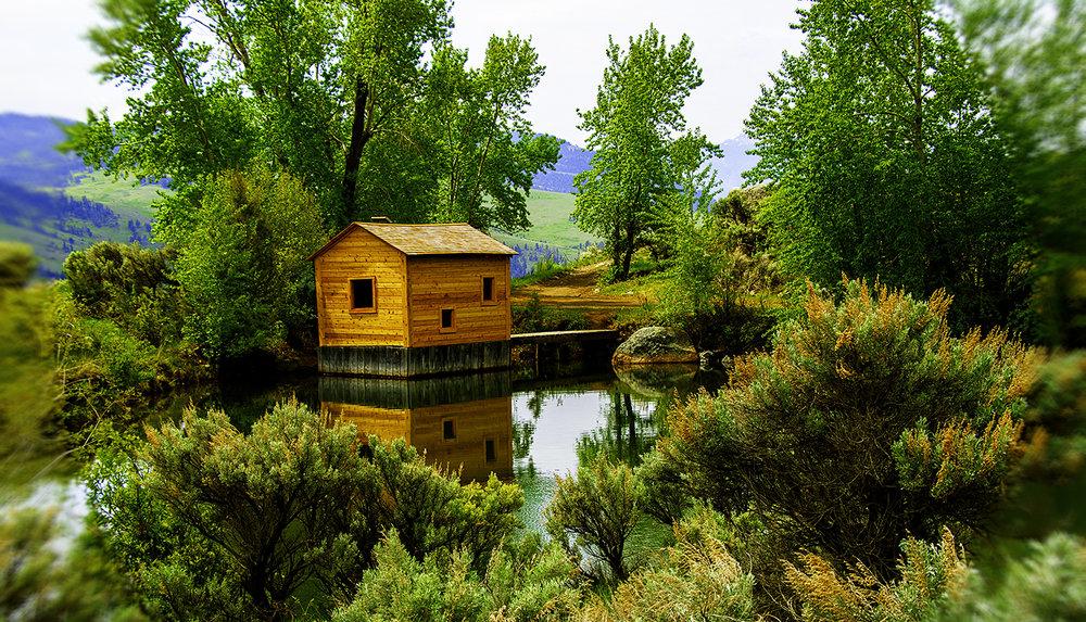 Pond between Gardiner and Jardine