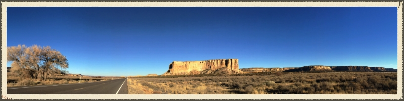 Enchanted Mesa.  Acoma, New Mexico