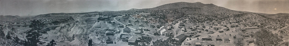 A 1916 photo of the Grant County mining town of Santa Rita, east of Silver City. By 1970, the town had vanished to make way for the expanding open-pit Chino Mine.