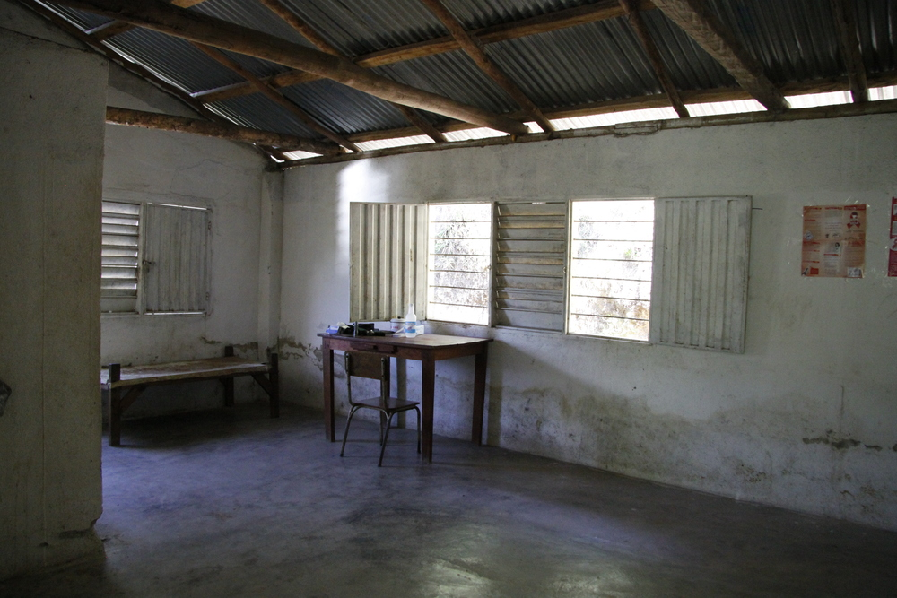 Inside the Health House in Sogromin, July 2014