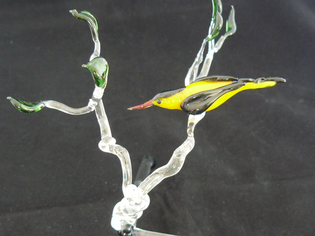 Bird, yellow with black, sold