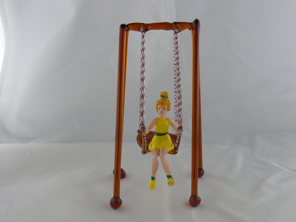 Girl on hammock chair, yellow dress , 2016