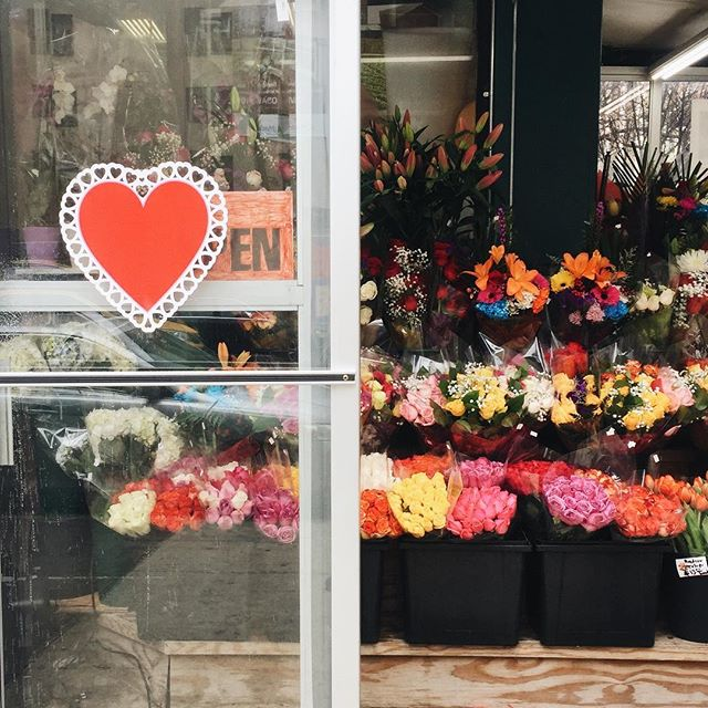 A Very Happy NYC-Bodega-Kind-of-Valentine's Day to you from me ❣️💐 #openheartopenmind #bluedieddasies