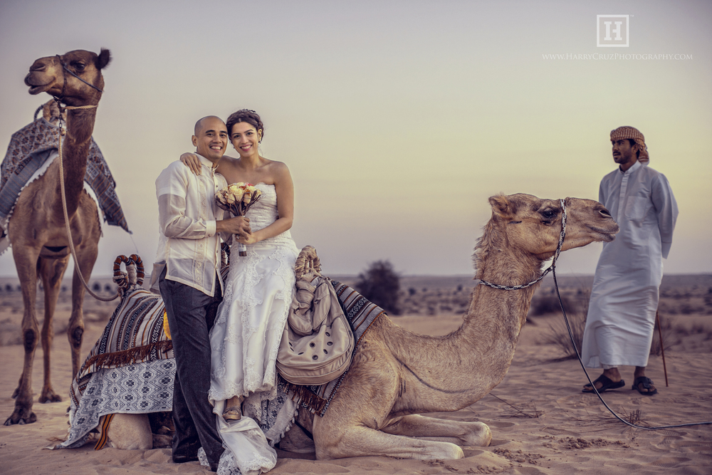 An intimate wedding in the desert at the Bab Al Shams Desert Resort for Gina and Neo