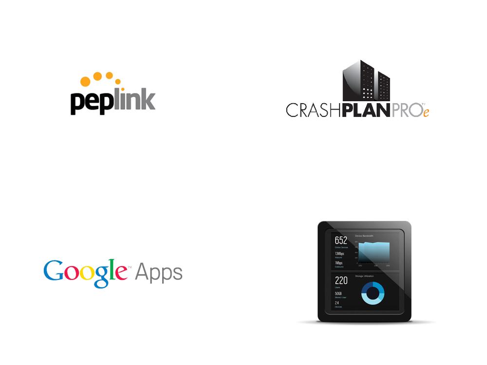 Projetos de backup, networking e colaboração
