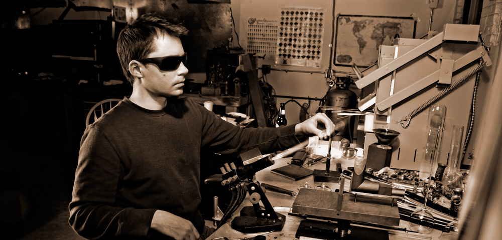 Chris at work in his studio.