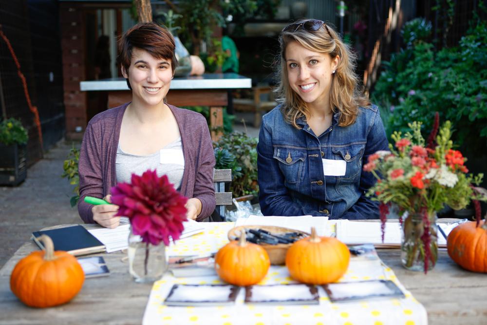 Adrienne Pollack, intern, and Danielle Yorko, volunteer