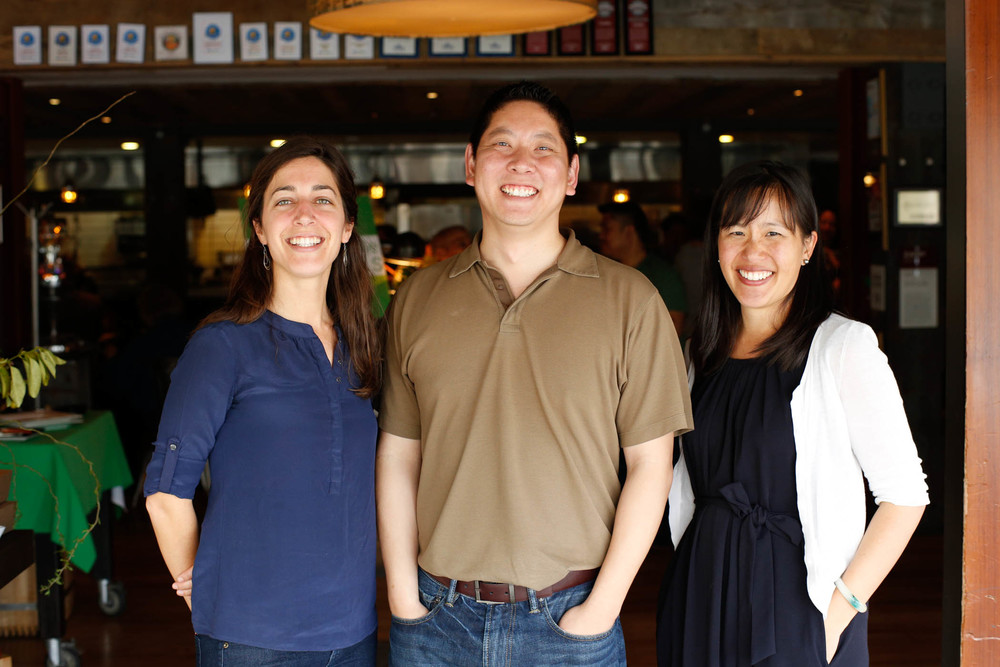 Paige Phinney (left), Anthony Chang and Pei-Yee Woo of Kitchen Table Advisors.  Photo by Jayson Carpenter Photography.
