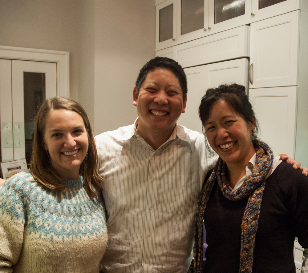 Sarah Trent (left) with Anthony Chang and Pei-Yee Woo. Sarah was one of the first people who offered to volunteer when we met her a year and a half ago at a Slow Money Farm Fest.  What a great moment - connecting and celebrating with our growing community!