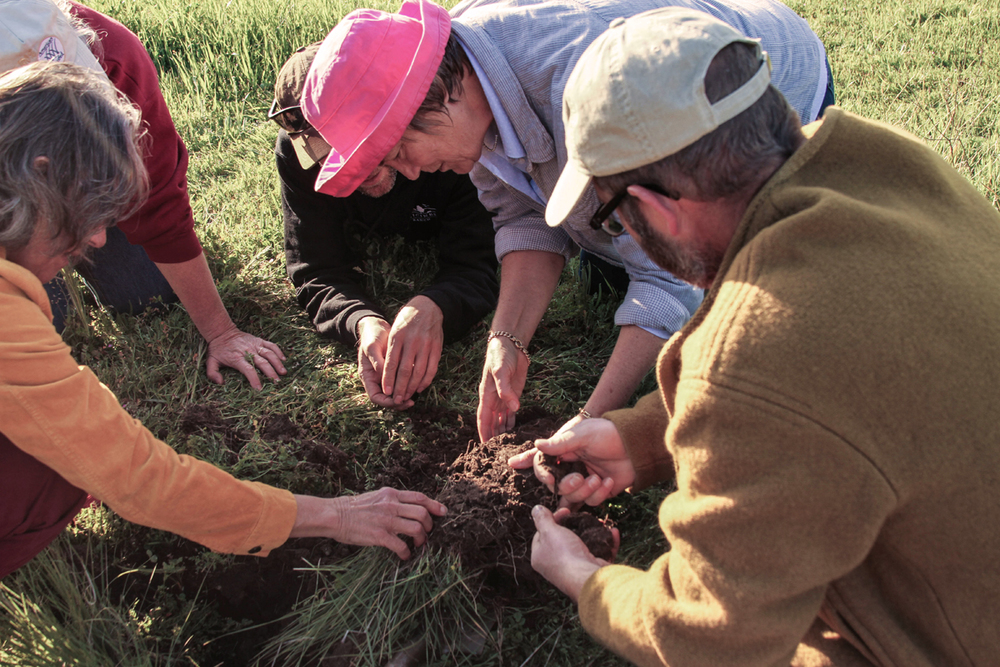 The ranch hosts events where experts are invited to present best practices for soil propagation