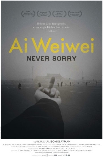 Ai Weiwei: Never Sorry   is the inside story of a dissident for the digital age who blurs the boundaries of art and politics.