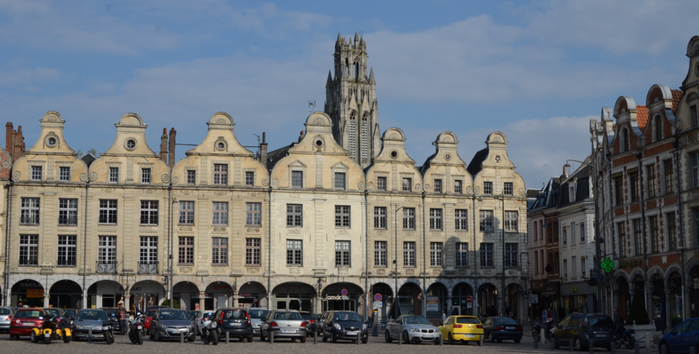 The main city square in Arras
