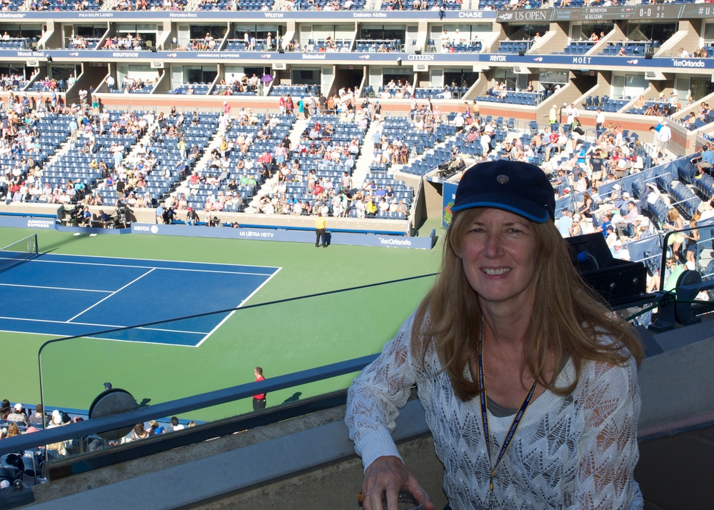 Dana's proof she was at Arthur Ashe