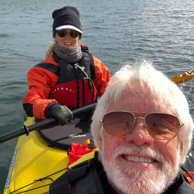 Kayaking on Isfjorden. Our last day on Svalbard. #beautifulweather #gonnamissthis