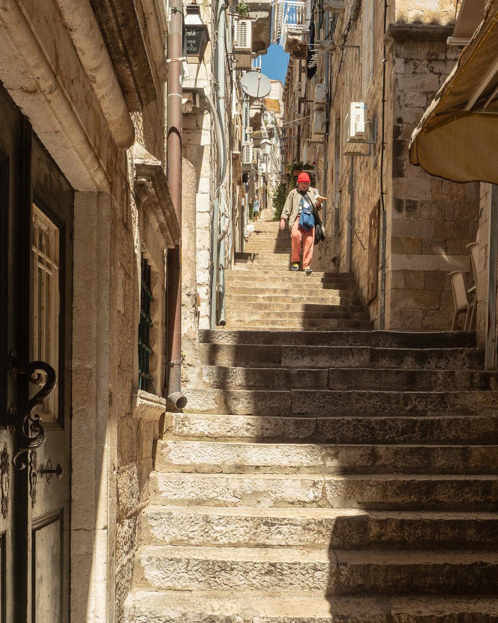 "A normal ""street"" in Dubrovnik."