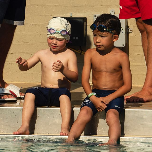 Summer is swim meets! The Fong boys are following in their mother's webbed footsteps. They get faster every race! #summertime #swimming
