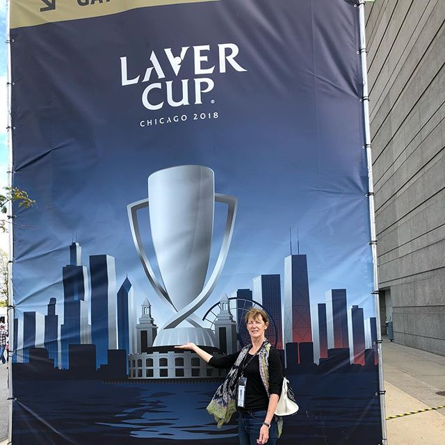 In Chicago for the Laver Cup! Dana has been planning this for a year! #tennisRules #federerfans