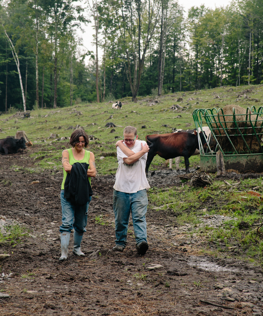 Miriam and Pattrice in the Upper, Upper Pasture