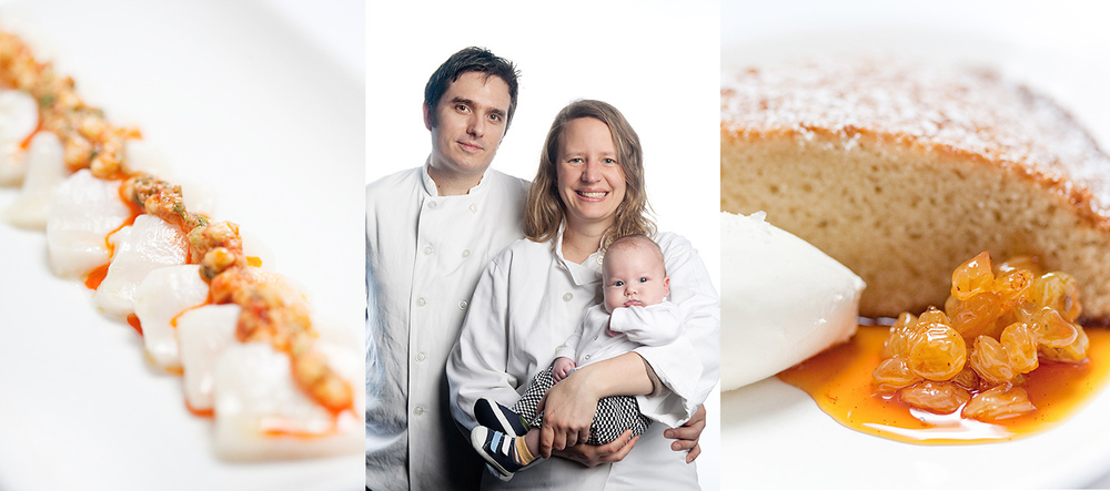 dell'anima, Lartusi and Anfora Executive Chef and Executive Pastry Chef, Gabe and Katherine Thompson and son