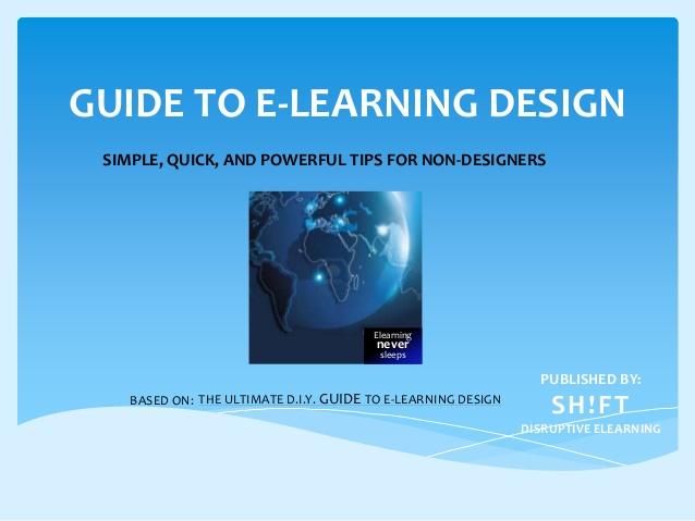 Guide to E-learning Design for Non-designers