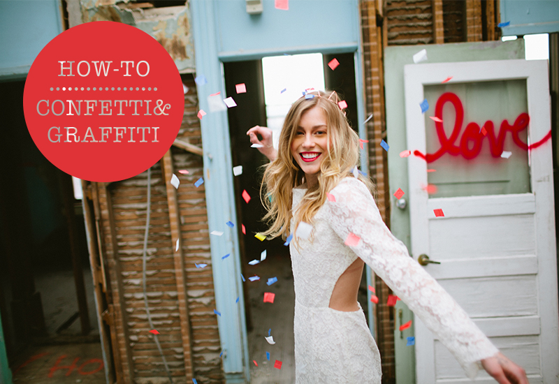 how to wedding conffeti