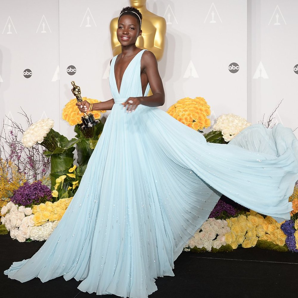Probably the most gorgeous dress at the 2014 Oscars. Lupita Nyongo rocked this light blue Prada gown. So dreamy, right?