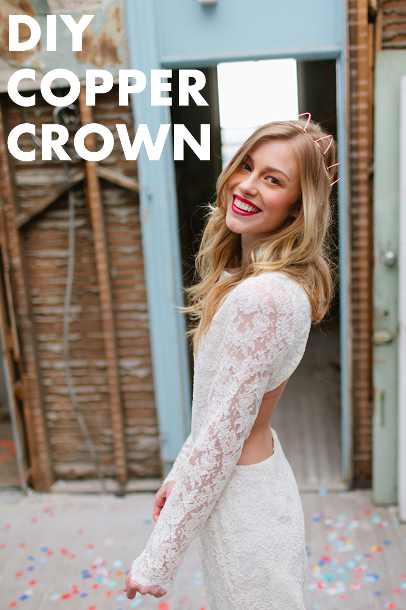 wedding diy: copper crown