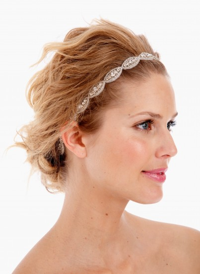 Simple, crystal headband from Untamed Petals by Amanda Judge. Don't forget - the Untamed Petals event is happening at a&be bridal shop on April 18-19. Seriously, this piece looks great on your wedding day or every day after.