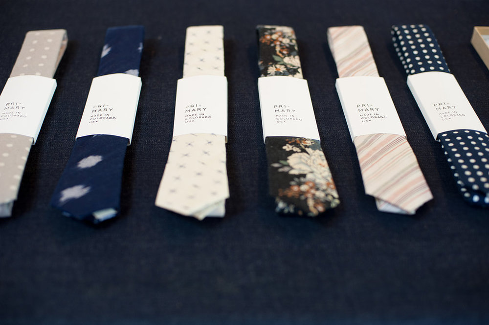 Shop Primary ties photographed by Ali + Garret wedding photography