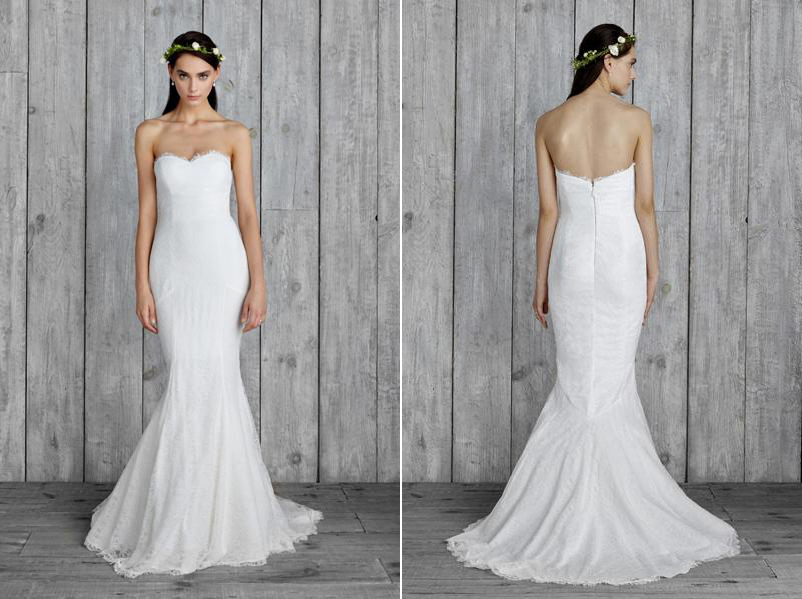 Nicole Miller Janey Dress A Plunging V Neck Front Deep Back All Wrapped Up In Lace Perfect For The Rustic Chic Wedding