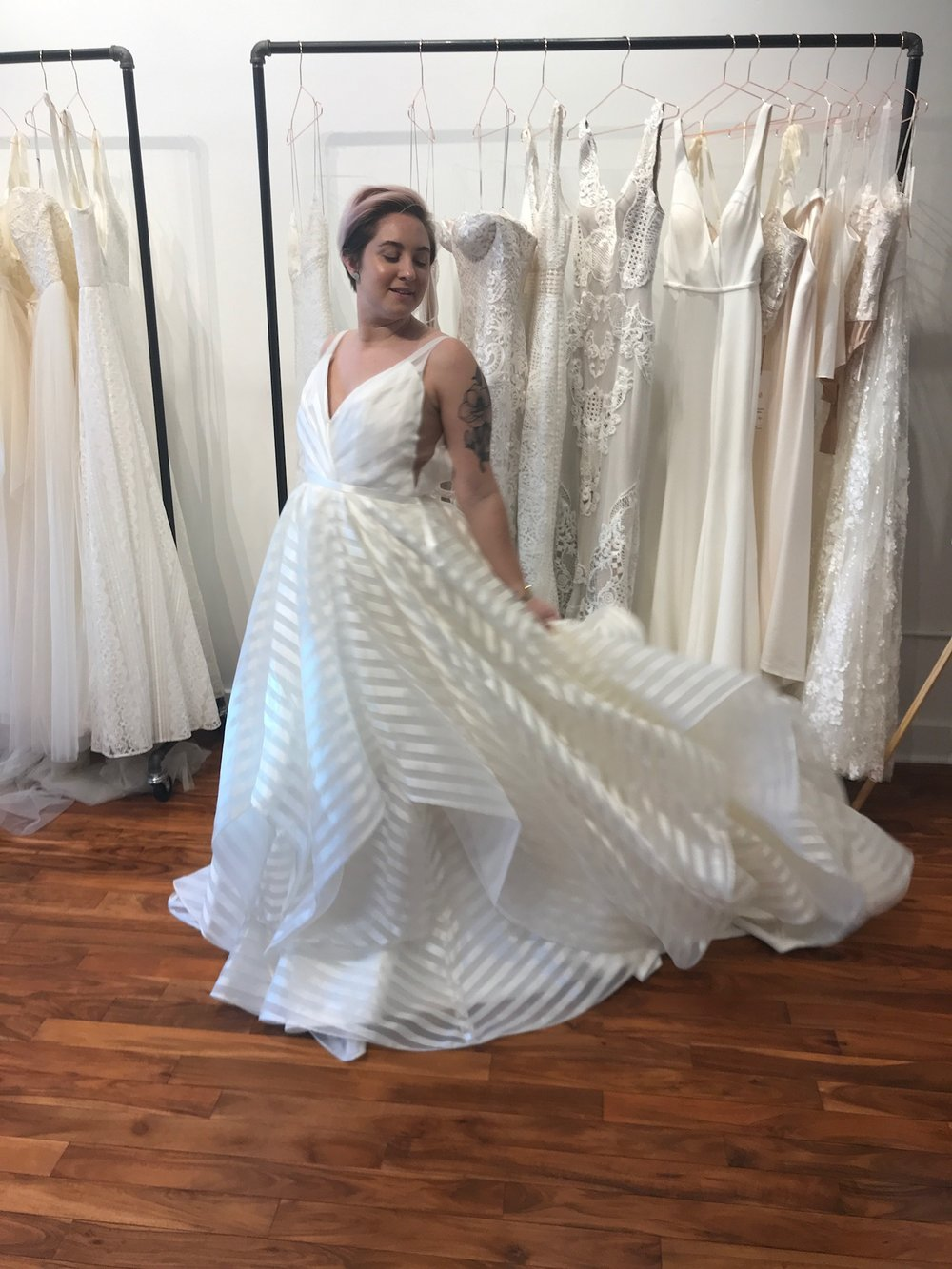 Hayley paige wedding dresses are in the house at ab seattleab hayley paiges feminine flirty and flattering wedding gowns have our hearts racing and we think yours will too as seen on her popular original series on junglespirit Choice Image