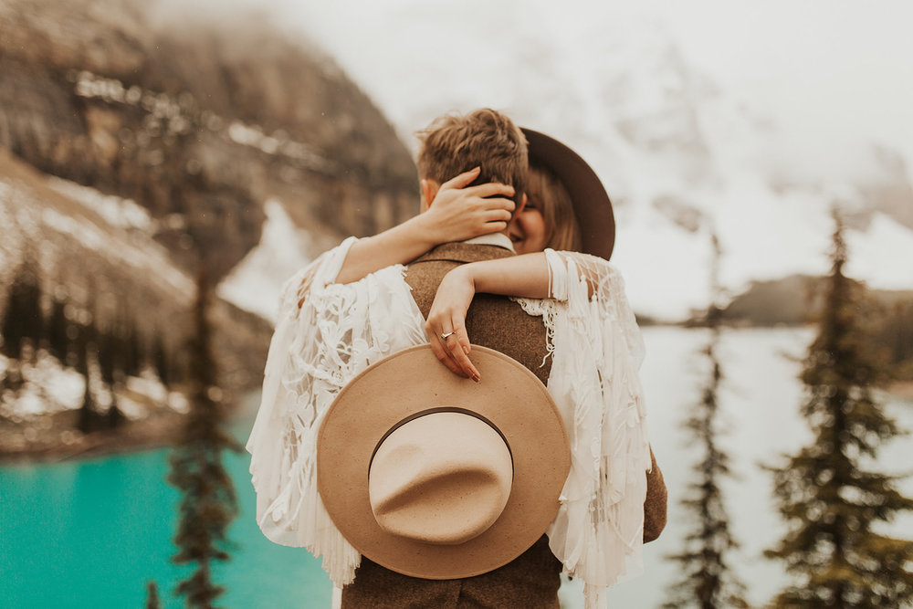 Banff Elopement l Lake Moraine Elopement l Vintage Bolo Tie l Pampas Grass Boho Boquet l Rue Design Wedding Dress l Banff Wedding Photographer l Destination Wedding Photographer l Katy Rose Photo_-203.jpg