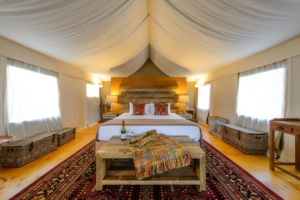 Truffle Lodge is modelled on an Australian bush camp