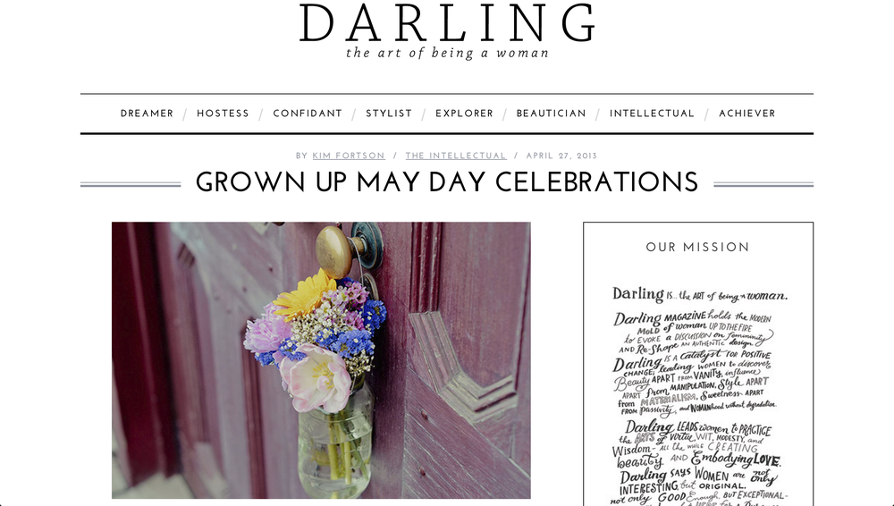 Grown Up May Day | Darling Magazine Blog     http://darlingmagazine.org/grown-up-may-day-celebrations/