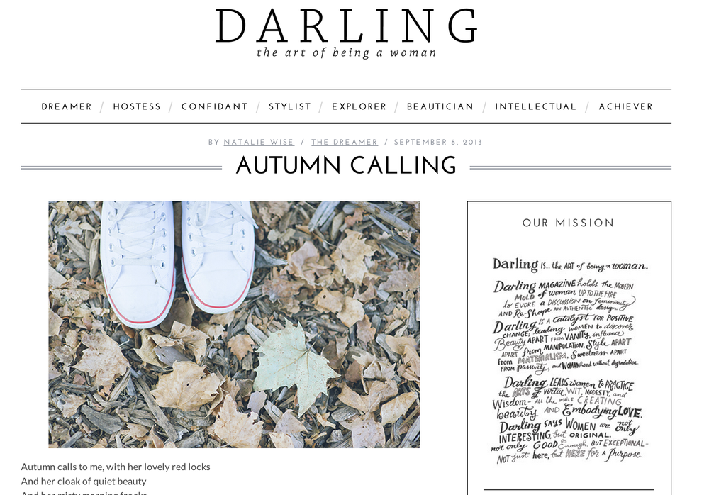Autumn Calling | Darling Magazine Blog    http://darlingmagazine.org/autumn-calling/