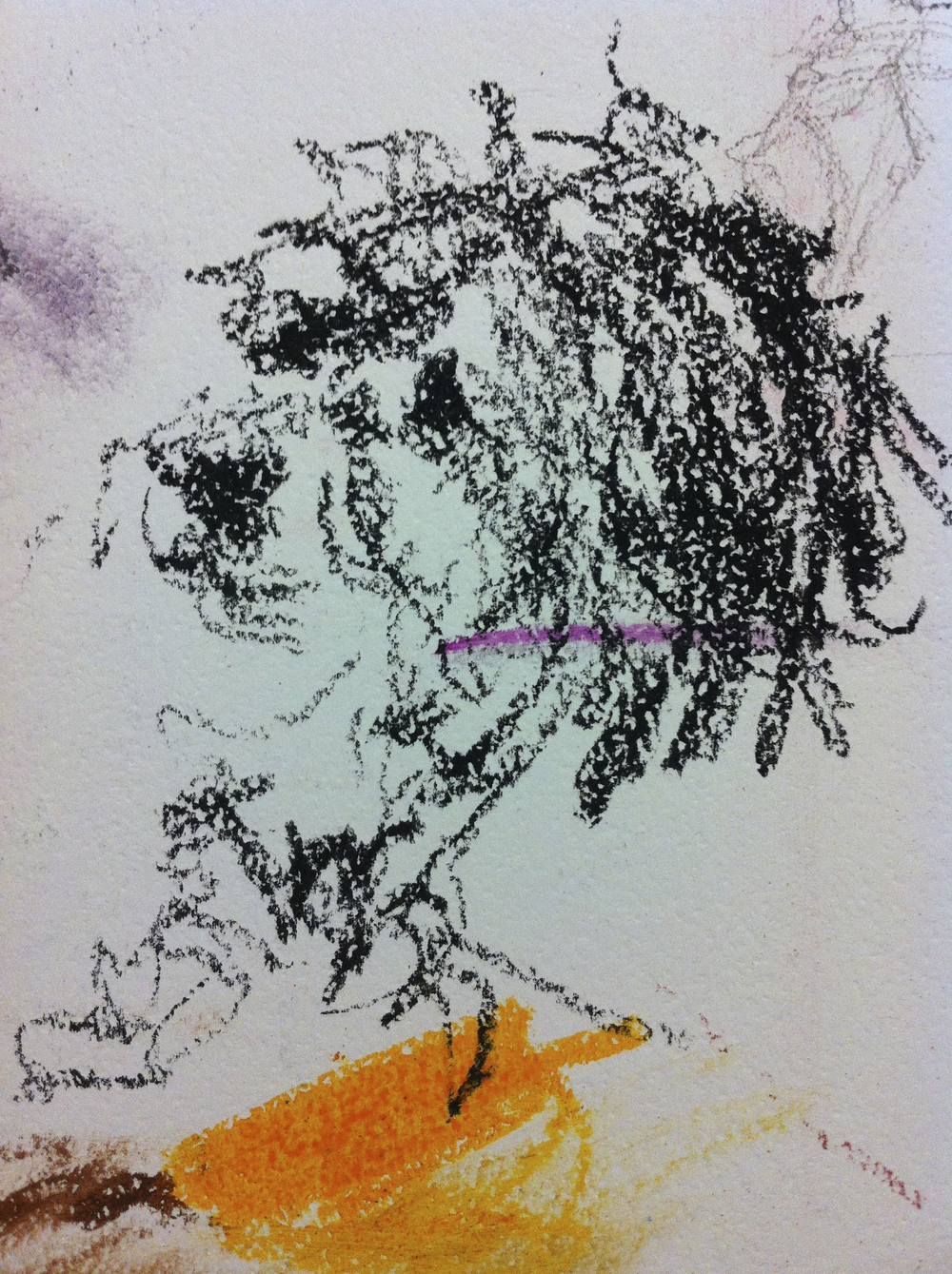 10-Second Sketch - Of a little dog named Che. This became a handy palette for another project.